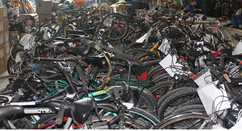 Bikes awaiting owners