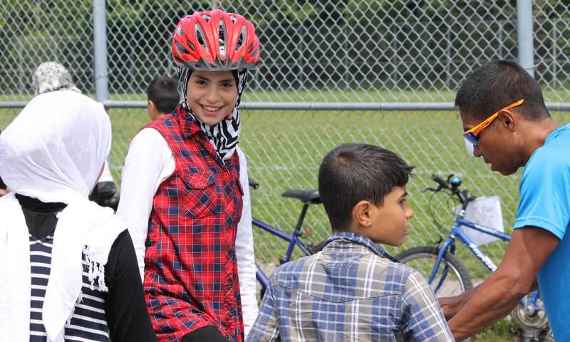 Girl gets bike