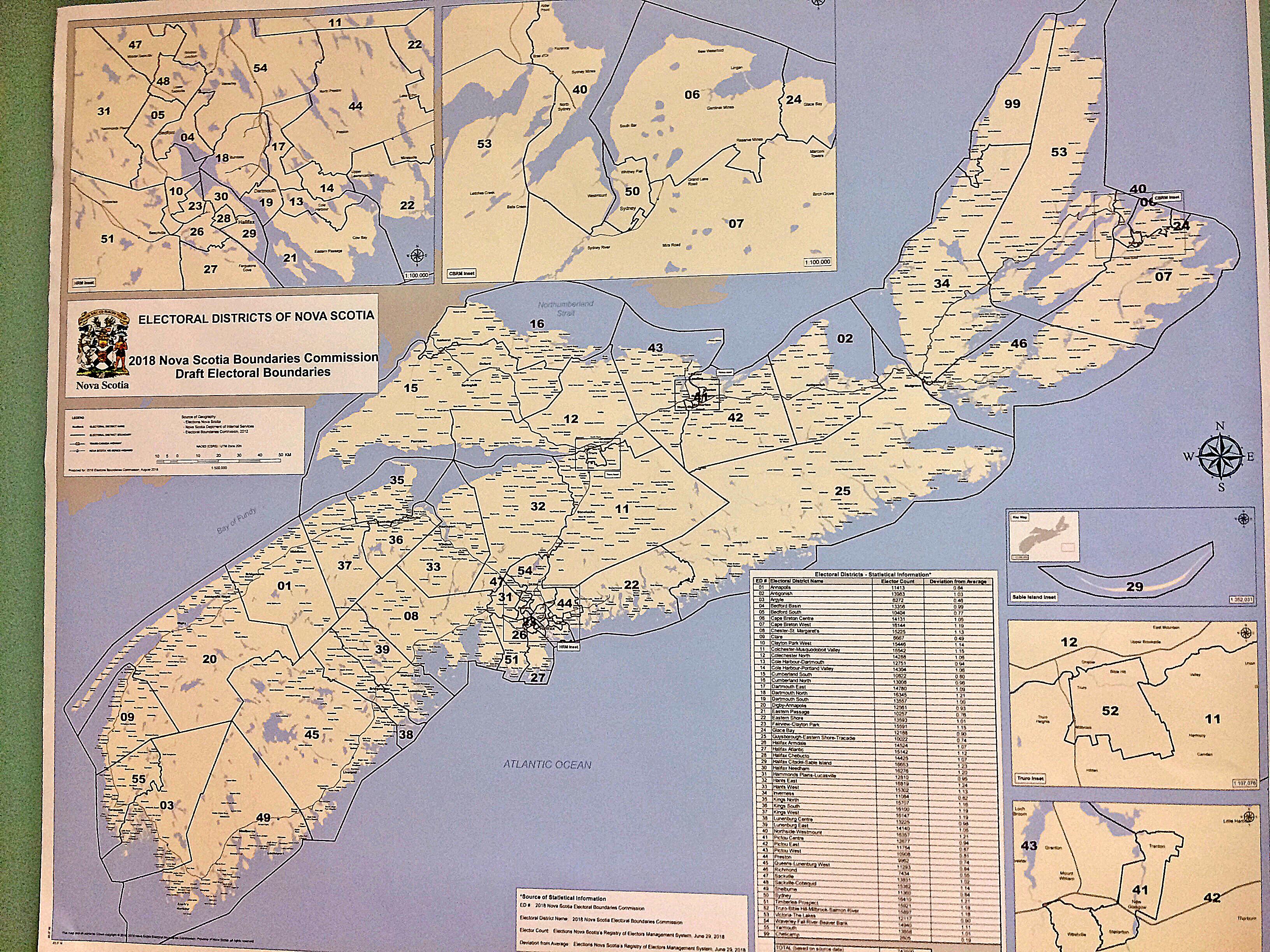 Electoral boundaries map